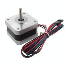 LDTR-WG0263 3D printer High Torque 17 stappen motor  200mN 1.2 A 2-fase 4-draads (zilver)