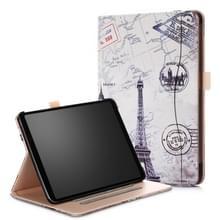 Retro toren patroon gekleurde geschilderd horizontale Flip PU lederen Case voor iPad Pro 11 inch  met houder & slaap / Wake-up functie