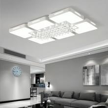 108W woonkamer eenvoudige moderne LED plafond Lamp Crystal Light  120 x 80cm (wit licht)