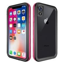 2m waterdichte Sneeuwvaste 2m schokbestendige stofdichte PC + Siliconenhoesje voor iPhone XR (roze)