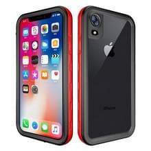 2m waterdichte Sneeuwvaste 2m schokbestendige stofdichte PC + Siliconenhoesje voor iPhone XR (rood)