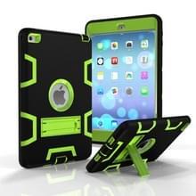 Contrast kleur silicone + PC schokbestendige Case voor iPad Mini 5/Mini 4  met houder