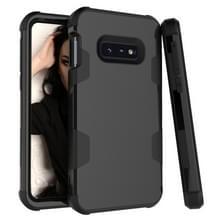 Contrast kleur silicone + PC schokbestendige geval voor Galaxy S10e (zwart)