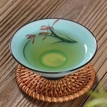 Pure met de hand geschilderde keramische celadon persoonlijke KungFu thee Single Cup (orchidee)