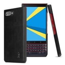 IMAK Ruiyi serie beknopte slanke PU + PC beschermhoes voor BlackBerry KEY 2 LE (zwart)