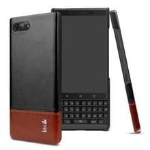 IMAK Ruiyi serie beknopte slanke PU + PC beschermhoes voor BlackBerry KEY 2 (zwartbruin)