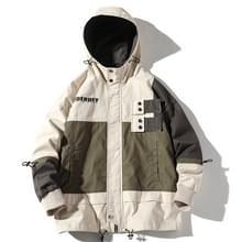 Hooded casual losse jas jas voor mannen (kleur: beige maat: M)