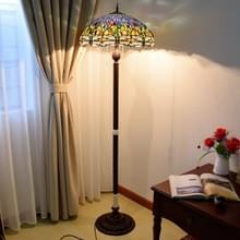 YWXLight gebrandschilderd glas lampenkap woonkamer eetkamer Bar decoratie vloer lamp (EU plug)