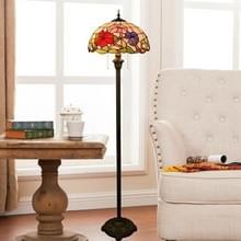 YWXLight ochtend glorie pastorale creatieve vloer lamp gekleurd glas schaduw woonkamer eetkamer slaapkamer bed decoratie lamp (EU plug)