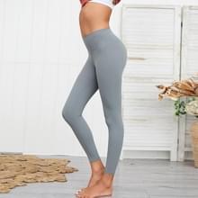 Dubbelzijdige Brocade Fitness Leggings (Kleur:Grijs formaat:L)