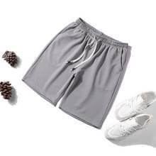 Mannen casual losse 5-broek Shorts (kleur: licht grijs grootte: 4XL)