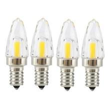 YWXLight 4 stuks E12 4W COB LED-verlichting gloeilamp  AC 110-130V (koud wit)