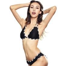 Sexy Split driehoek tas bikini badpak (kleur: zwart maat: S)