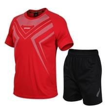 Casual Sport Fitness Pak Sneldrogende Kleding (Kleur: Rood Formaat: L)