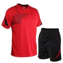 Mannen running fitness pak sneldrogende kleding (kleur: rood formaat: XXXXL)