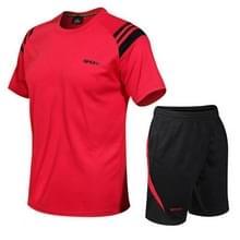 Mannen running fitness sportkleding Quick-drying Kleding (Kleur: Rood formaat: XL)