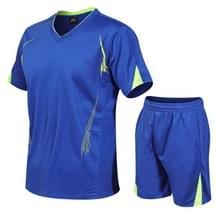 Mannen running Fitness Sports Pak Sneldrogende Kleding (Kleur: Blue Size:XXXXXL)