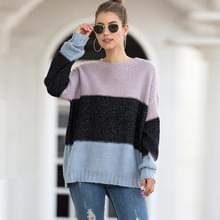 Gestreepte trui van het structuurblok van de structuur (kleur:zwart formaat:l)