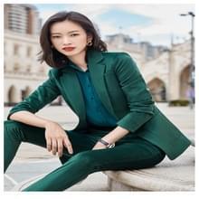 Business Wear Fashion Casual Pak Werk kleding pak  stijl: jas + broek + shirt (kleur: groene maat: M)