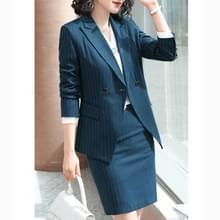 Business Wear Fashion Casual Pak Werk kleding pak  stijl: Jas + Broek + Shirt (Kleur: Blue Size: XXXXXL)