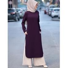 Vrouwen moslim 's avonds jurk Top Broek pak (kleur: paarse maat: XXXXL)