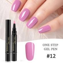 Nagellak 3 in 1 nagel gel pen nagel pen luie lijm lang blijvende nagellak pen 5ml (#12)