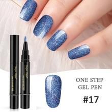 Nagellak 3 in 1 nagel gel pen nagel pen luie lijm lang blijvende nagellak pen 5ml (#17)