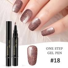 Nagellak 3 in 1 nagel gel pen nagel pen luie lijm lang blijvende nagellak pen 5ml