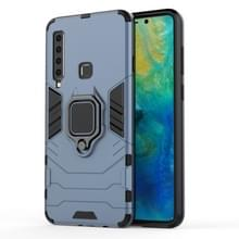 PC + TPU schokbestendige beschermhoes voor Galaxy A9(2018)  met magnetische ringhouder (grijs)
