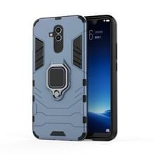 Schokbestendige PC + TPU beschermende case voor Huawei mate 20 lite  met magnetische ring houder (grijs)