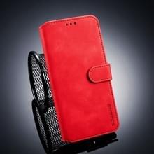 DG. MING Retro olie kant horizontale Flip Case voor Galaxy J4 +  met houder & kaartsleuven & portemonnee (rood)