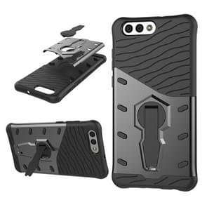 Asus Zenfone 4 (ZE554KL) PC + TPU Dropproof Sniper Hybrid Protective Back Cover Case with 360 Degree Rotation Holder (Black)