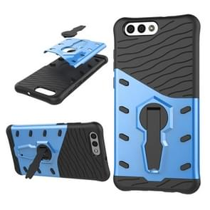 Asus Zenfone 4 (ZE554KL) PC + TPU Dropproof Sniper Hybrid Protective Back Cover Case with 360 Degree Rotation Holder (Blue)