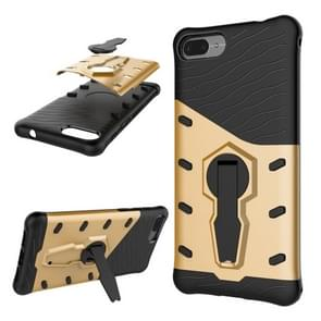 Asus Zenfone 4 Max 5.2 inch (ZC520KL) PC + TPU Dropproof Sniper Hybrid Protective Back Cover Case with 360 Degree Rotation Holder (Gold)