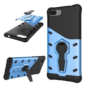 Asus Zenfone 4 Max 5.2 inch (ZC520KL) PC + TPU Dropproof Sniper Hybrid Protective Back Cover Case with 360 Degree Rotation Holder (Blue)