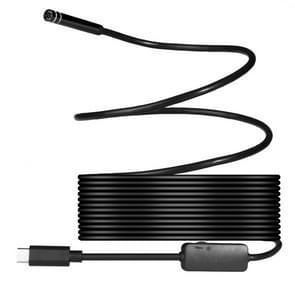 USB-C / Type-C Endoscope Waterproof Snake Tube Inspection Camera with 8 LED & USB Adapter, Length: 5m, Lens Diameter: 7mm