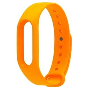For Xiaomi Mi Band 2 (CA0600B) Colorful Replacement Wristbands Bracelet, Host not Included(Orange)