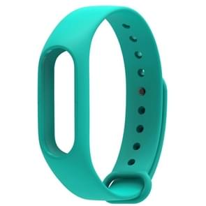 For Xiaomi Mi Band 2 (CA0600B) Colorful Replacement Wristbands Bracelet, Host not Included(Green)