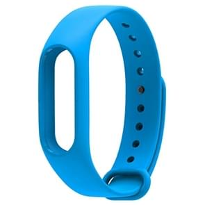 For Xiaomi Mi Band 2 (CA0600B) Colorful Replacement Wristbands Bracelet, Host not Included(Blue)