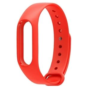 For Xiaomi Mi Band 2 (CA0600B) Colorful Replacement Wristbands Bracelet, Host not Included(Red)