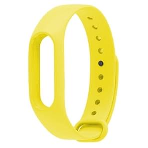 For Xiaomi Mi Band 2 (CA0600B) Colorful Replacement Wristbands Bracelet, Host not Included(Yellow)