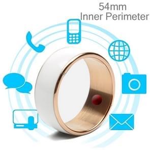 JAKCOM R3F 18K Rose Gold Smart Ring, Waterproof & Dustproof, Health Tracker, Wireless Sharing, Phone Call, Push Message, Inner Perimeter: 54mm(White)