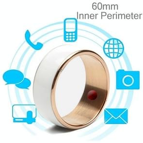 JAKCOM R3F 18K Rose Gold Smart Ring, Waterproof & Dustproof, Health Tracker, Wireless Sharing, Phone Call, Push Message, Inner Perimeter: 60mm(White)