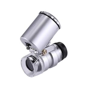 Mini Portable 60X Jewelry Appraisal Microscope with LED Light & Currency Detecting Function
