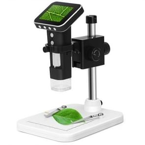 500X Zoom Magnifier 3MP Image Sensor USB Digital Microscope with 2.5 inch Screen & 8 LED & Professional Stand, Support TF Card