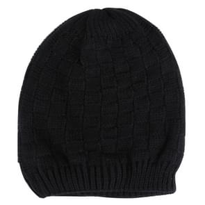 Square Textured Knitted Bluetooth Headset Warm Winter Hat with Mic for Boy & Girl & Adults(Black)