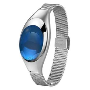 Z18 0.49 inch OLED Screen Bluetooth 4.0 Waterproof Smart Bracelet with Metal Wrist Strap & Touch Press Key & Blood Pressure / Heart Rate Monitor & Pedometer & Sleep Monitor & Call Reminder & SMS Information Push (Silver)
