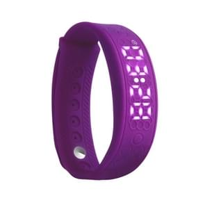 H5S Fitness Smart Bracelet, Support Heart Rate / Pedometer / Sleep Monitor  / Calories / Temperature / Distance / Alarm (Purple)