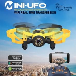 512W Mini 360 Degree Flip 4-Channel 2.4GHz WiFi Real-time FPV Radio Control Quadcopter with 0.3MP Camera & 6-axis Gyro(Yellow)