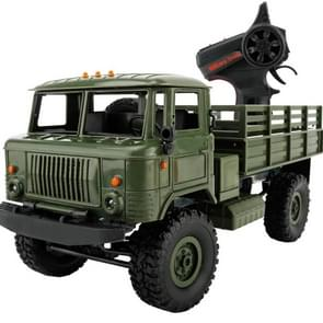 WPL B-24 Full Body 1:16 Mini 2.4GHz 4WD RC Military Truck Control Car Toy (Green)